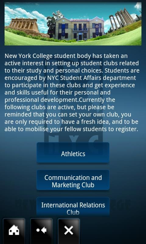 NYC App- screenshot
