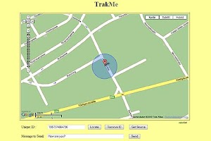 Screenshot of TrakMe