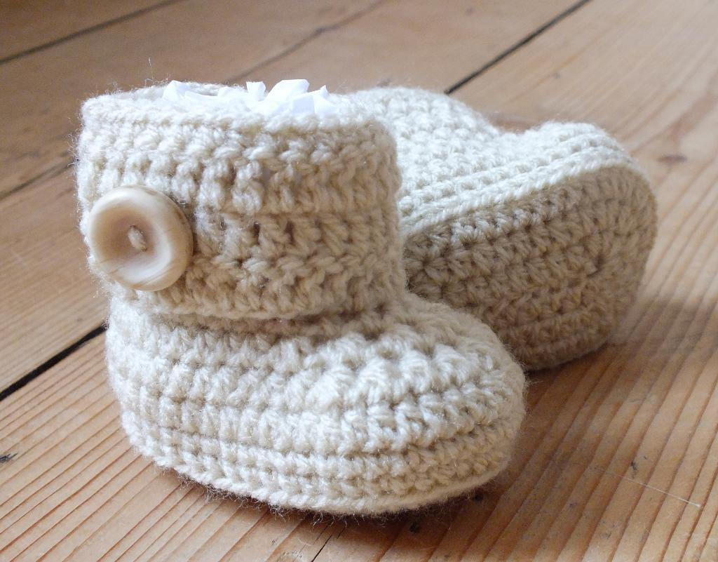 Unisex Baby Booties Free Crochet Pattern : Crochet Lessons - Android Apps on Google Play