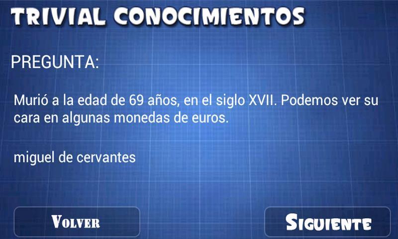 Trivial. Conocimientos - screenshot