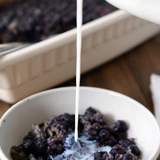 Blueberry and Almond Baked Steel Cut Oats
