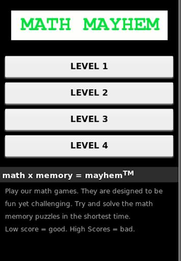 Math Mayhem