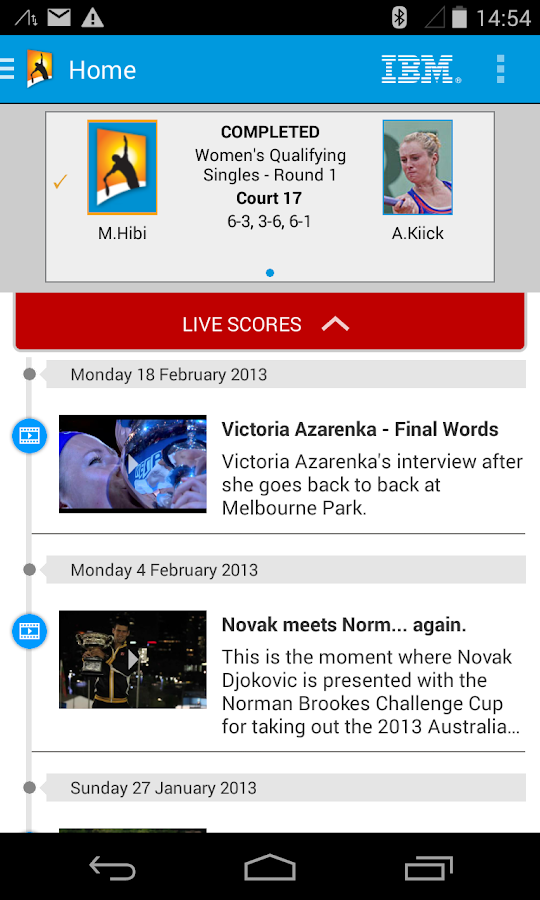 2014 Australian Open - screenshot