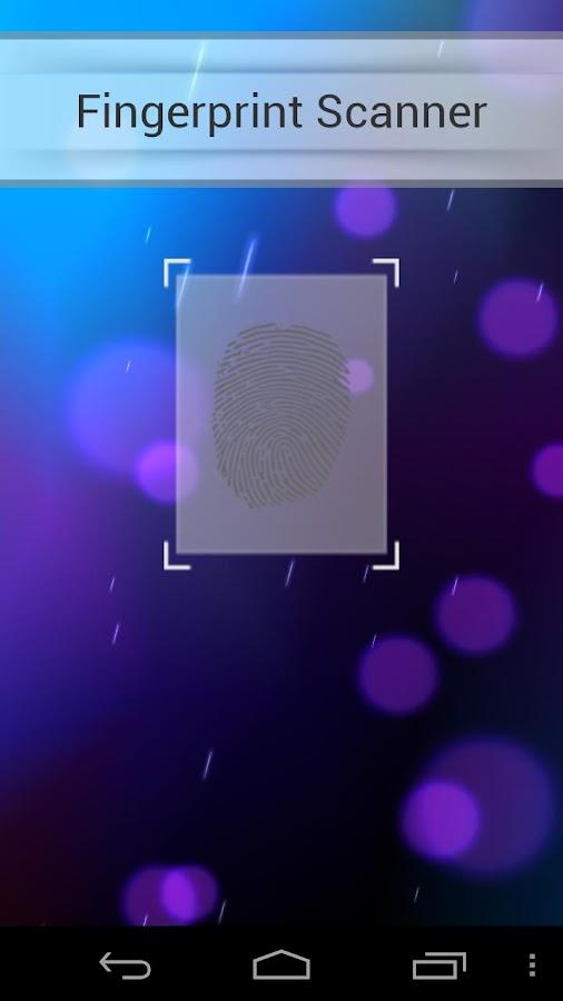 Fingerprint lock screen - screenshot