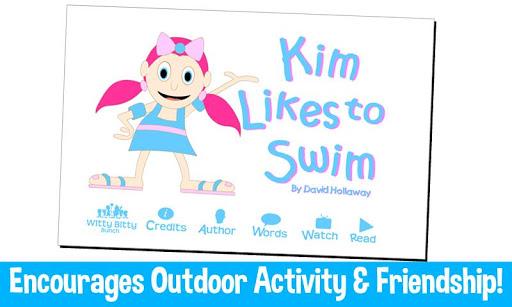 Kim Likes to Swim