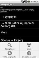 Screenshot of RejseplanQuick