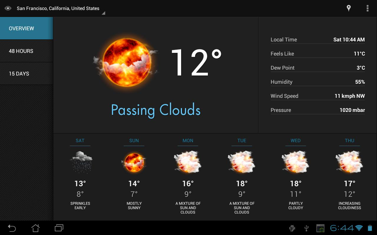 Eye In Sky Weather - screenshot