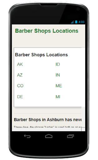 the Barber Shop Locator