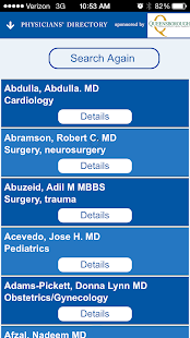 Augusta Physicians' Directory- screenshot thumbnail