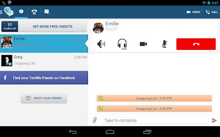 Text Me!  Free Texting & Call 2.8.8 screenshot 13541