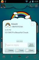 Screenshot of GO SMS Pro Beautiful Clouds