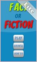 Screenshot of Fact or Fiction Lite