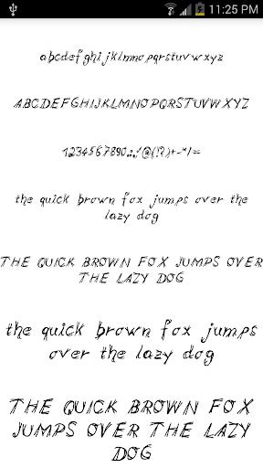 Fonts for FlipFont 15