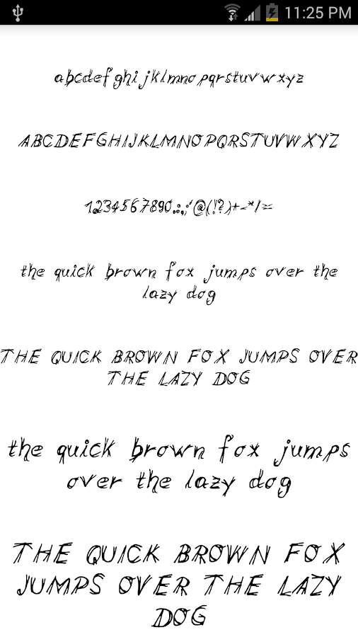 Fonts for FlipFont #15 - screenshot