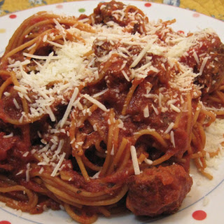 All in the Slow Cooker Spaghetti and Meatballs