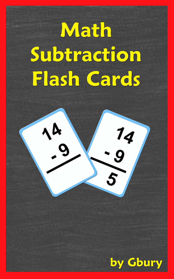 math subtraction flash cards android apps on google play. Black Bedroom Furniture Sets. Home Design Ideas