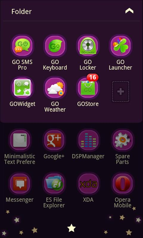 GD GO LauncherEX Theme - screenshot