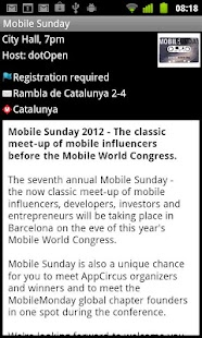 Mobile World Congress Events- screenshot thumbnail