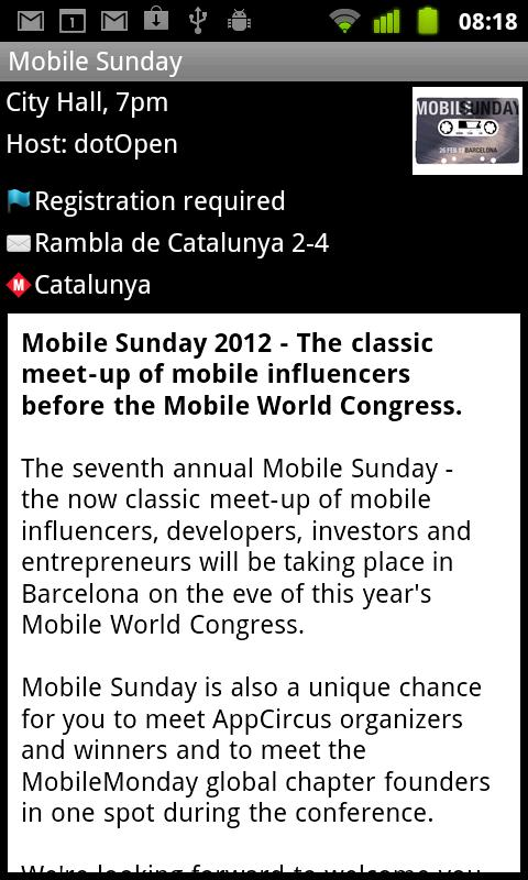 Mobile World Congress Events- screenshot