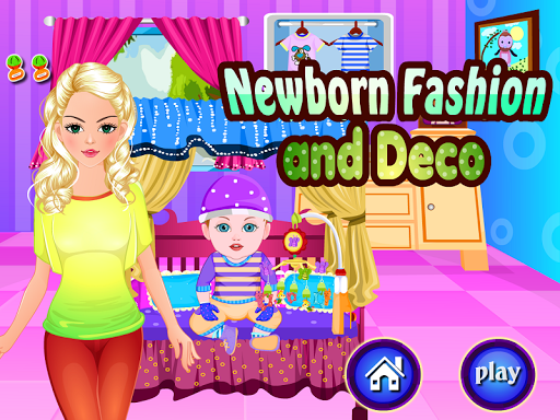 新生嬰兒的時尚遊戲