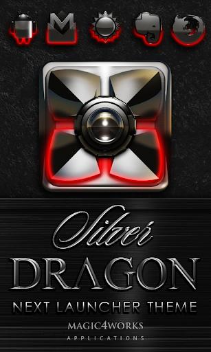 Next Launcher Theme Silver Dra