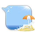 GO SMS beach bubble Theme