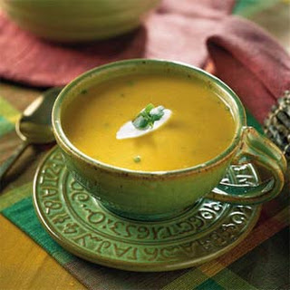 Creamy Southwestern Pumpkin Soup.