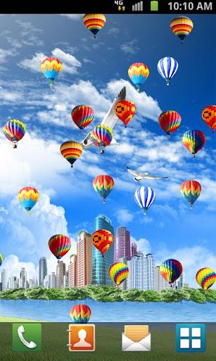 Hot Air Balloon Live Wallpaper