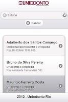 Screenshot of Guia Dental Uniodonto RJ