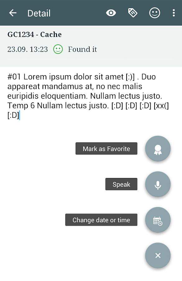 Locus Addon FieldNotes - screenshot