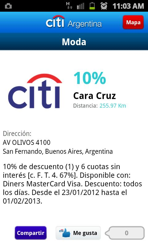 Citi Argentina - screenshot