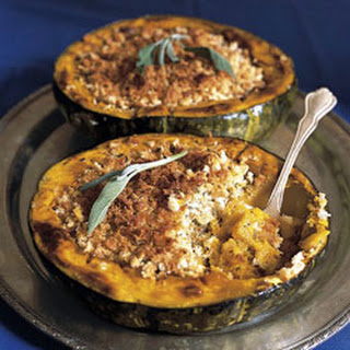 Roasted Squash with Sage Bread Crumbs