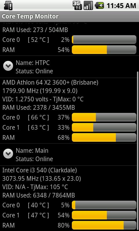 Core Temp Monitor - screenshot