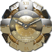 Golden Light Clock Widget