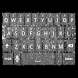Silver Glitter Keyboard Skin