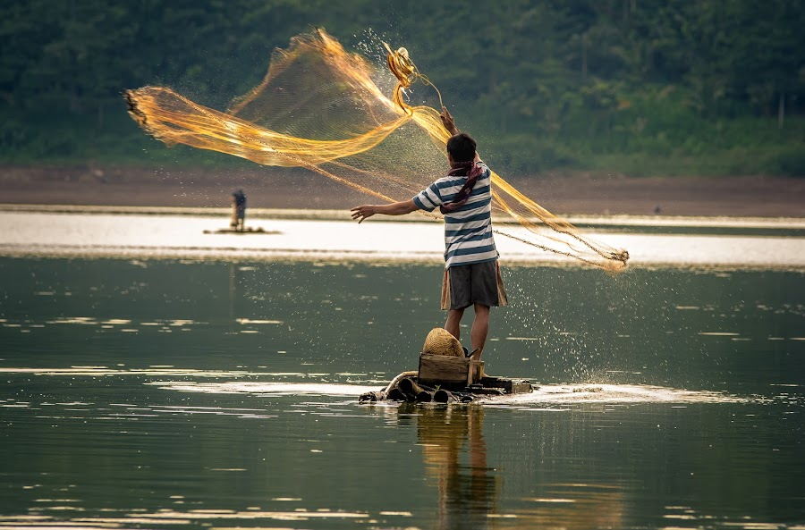 by Joy Advent - People Professional People ( candid, fisherman, people, nelayan )