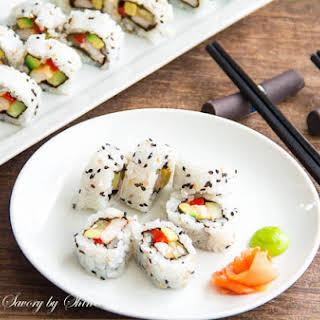Homemade Sushi Rolls.