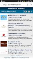 Screenshot of American Express Móvil