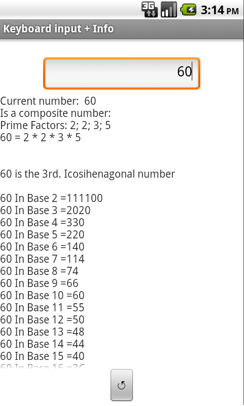 Touch Natural Numbers- screenshot