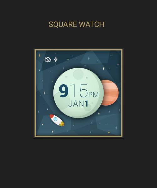 Space And Time Watch Face- screenshot