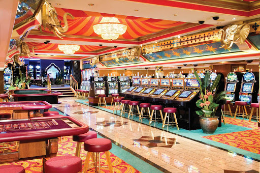 Norwegian-Spirit-Maharajahs-Casino - When you're feeling lucky, head to Norwegian Spirit's Maharajah's Casino on deck 7 to play the slots and game tables.