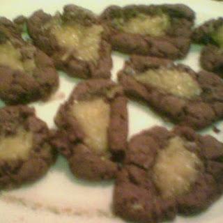 Easy Kids German Chocolate Thumbprint Cookies