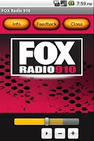 Screenshot of FOX Radio 910