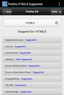 HTML5 Supported for Firefox- screenshot thumbnail