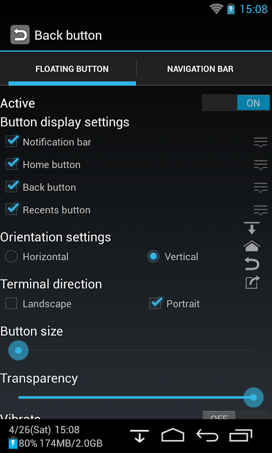 Back Button (No root)- tangkapan layar