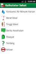 Screenshot of Kalkulator Sehat