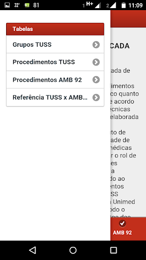 Asklepius - Tabela TUSS x AMB