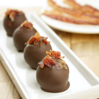 Chocolate Bacon Truffles.