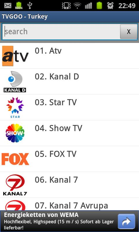 Tvgo Live Tv - screenshot