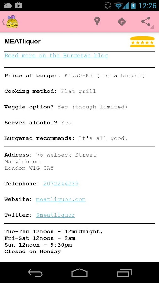Burgerapp - screenshot
